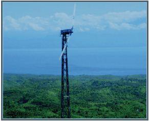eWON router monitors wind turbines on Bali and Sint Helena