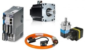 Motion system motor, gearbox, drive and cable
