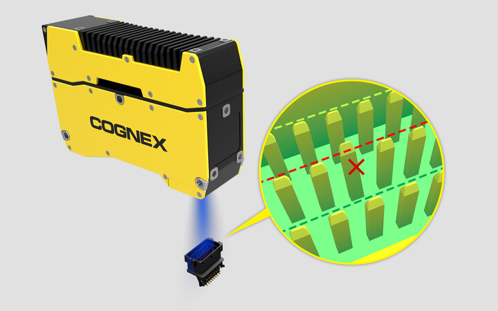 Connector-pin Cognex 3D inspection